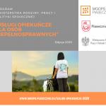 """Program Ministerstwa Rodziny, Pracy i Polityki Społecznej """"Usługi opiekuńcze dla osób niepełnosprawnych"""" – edycja 2020"""
