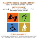 """Ankieta """"Kompleksowa Koncepcja Organizacji Usług Transportowych Door-To-Door w Gminie Piaseczno"""""""